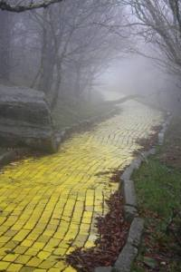Yellow brick road abandoned theme park