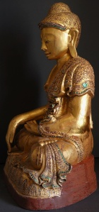 Side-View-Burmese-Mandalay-Seated-Buddha-Statue-20