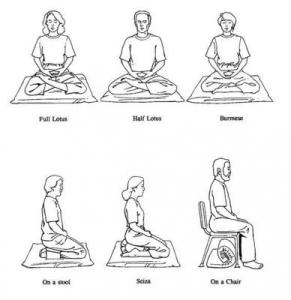 Various seated meditation postures